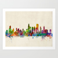 Chicago City Skyline Art Print by ArtPause