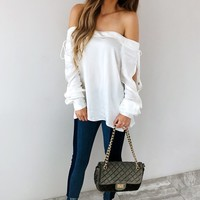 All You're Waiting For Blouse: Ivory