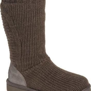 UGG? 'Capra' Ribbed Knit Genuine Shearling Lined Boot (Women) | Nordstrom