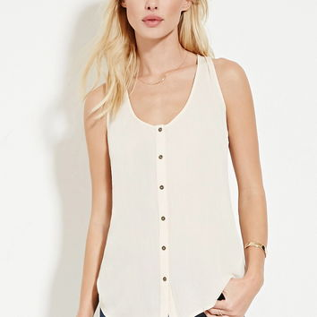 Button-Up Gauze Top | Forever 21 - 2000186705