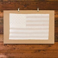 Hammerpress | American Flag Art Print (White)