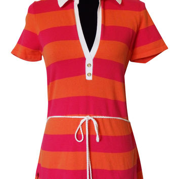 Lilly Pulitzer Hot Pink Stripe Tunic Size Medium