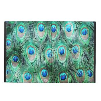 Peacock Feathers Exotic Wild Watercolor Pattern Powis iPad Air 2 Case