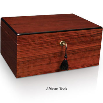 Classic Savoy Humidor African Teak Small - 25 Cigars
