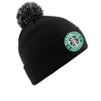 Tru Designz Starbucks Logo Bobble Hat Coffee House Retro