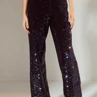 Light Before Dark Solene Wide-Leg Sequin Pant | Urban Outfitters