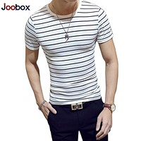 Brand Striped T Shirt Men 2018 Fashion Summer tshirt men Cotton O Neck Short Sleeved Slim Fit Tops Tees shirt