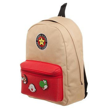 MPBP Mario Brothers Backpack w/ Mario Patches