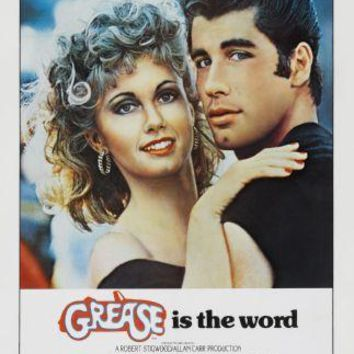 Grease movie poster Sign 8in x 12in