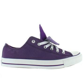 Converse All-Star Chuck Taylor Shimmer 2X Tongue - Grape Canvas/Shimmer Low Top Sneake