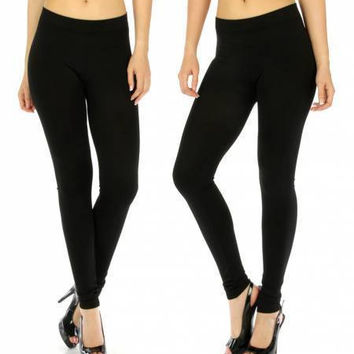 Seamless Solid Leggings in One Size Fits S-L in 22 Colors