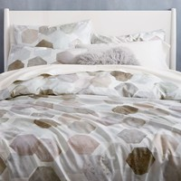 400-Thread-Count Organic Geo Sateen Duvet Cover + Shams