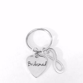 Bridesmaid Wedding Bridal Party Gift Keychain