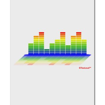 "Equalizer Bars Design Aluminum 8 x 12"" Sign by TooLoud"