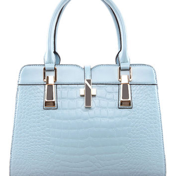 Pastel Embossed Satchel