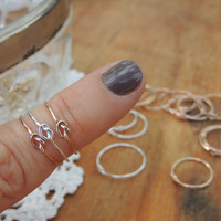 Matching set - Set of 8 Rings - Thanks for helping us tie the knot - Delicate Jewelry - Tie the Knot Gift - Memory Ring