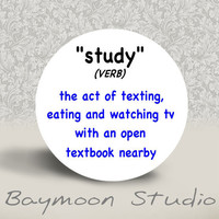Study verb The Act of Texting Eating and by BAYMOONSTUDIO on Etsy