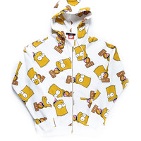 BART FACE HOODIE / WHITE