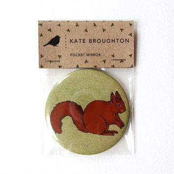 squirrel pocket mirror
