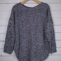 Button Back Knit Sweater
