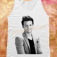 Louis Tomlinson Shirts One Direction Shirts Rock Shirts White Shirts Unisex Shirts Vest Women Tank Top Tunic Women Shirts Sleeveless Singlet