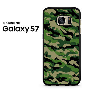 Camouflage Army Green Samsung Galaxy S7 Case