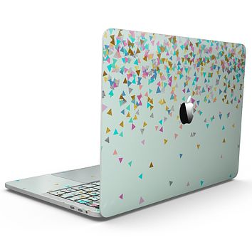 Multicolor Birthday Shapes Over Mint  - MacBook Pro with Touch Bar Skin Kit