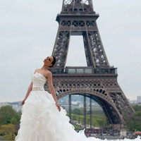 Ivory Gothic Couture Straples Wedding Dress