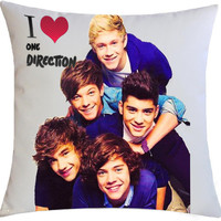 New Hot Rare One Direction PERSONALIZED Square Pillow Cases Best Gift Design 2