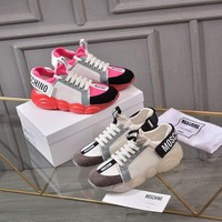 DCCK MOSCHINO Women's Leather Sneakers Shoes