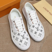 LV Louis Vuitton Shoes Canvas Sneaker White