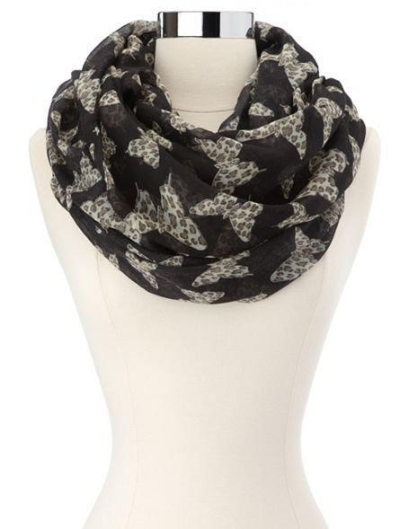Leopard Butterfly Infinity Scarf: Charlotte Russe