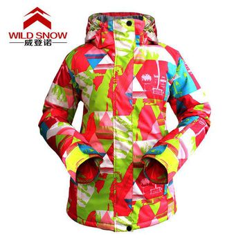 DCCK7N3 Winter Skiing and Snowboarding Women Waterproof Windproof Breathable Warm Outdoor Sports Moutain Climbing Hiking Coat Jacket