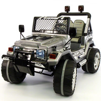 Jeep Wrangler Style 12V Kids Ride-On Car MP3 Battery Powered Wheels RC Remote | Carbon Gray