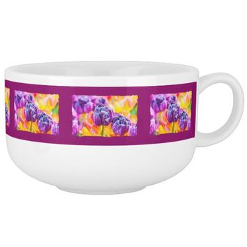 Tulips Enchanting beautiful and cool Soup Mug