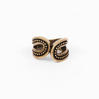 Paisley Ring in Antique Gold :: tobi