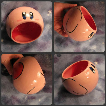 Kirby Ceramic Bowl Made to Order by skotkincreations on Etsy