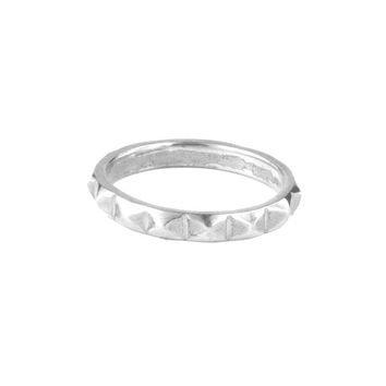 Sterling Studded Ring