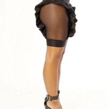 Adecco Black Ruffle Skirt