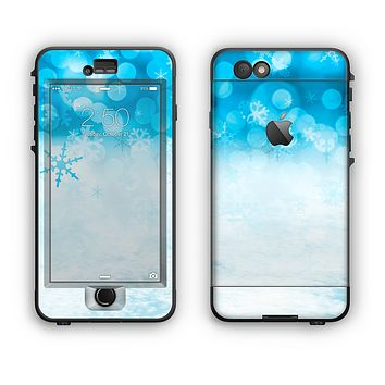 The Winter Blue Abstract Unfocused Apple iPhone 6 Plus LifeProof Nuud Case Skin Set