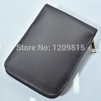 high quality zipper PU leather high-capacity pencil bags for ballpoint pen/fountain pen/functional pen convenient pen set