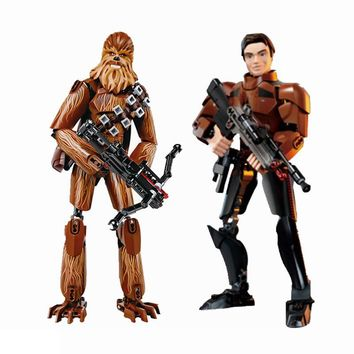 Star Wars Force Episode 1 2 3 4 5 Legoings  Han Solo Chewbacca with s Set Sale Models & Building Blocks Toys For Children Legoing  AT_72_6
