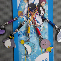 Japan Anime FREE! Iwatobi Swim Club Mascot Cell Phone Key Chain