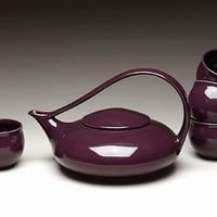 Eggplant Classic Tea by Judith Weber: Ceramic Teapot Cups | Artful Home