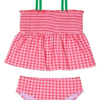 Hula Star Picnic Gingham Two-Piece Swimsuit (Toddler Girls & Little Girls) | Nordstrom