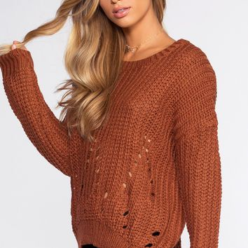 Riley Sweater - Rust