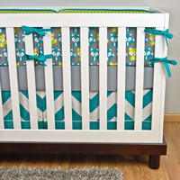 Crib Bedding, Baby Bedding, Fox Crib Set, Woodland Nursery