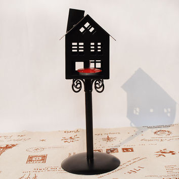 Home Decor Iron Decoration Candle Stand [6282845894]