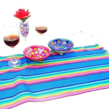 Mexican Table Runner, Fiesta Party Decor, Tela Mexicana, Mexican Table Decorations, Mexican Themed Wedding, Boho fabric, Taco Fiesta Decorations.