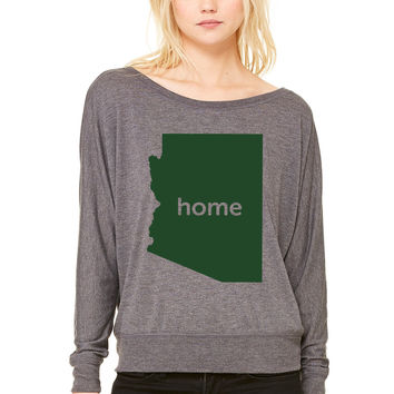 arizona home WOMEN'S FLOWY LONG SLEEVE OFF SHOULDER TEE